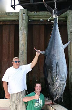 Giant Tuna caught on the Labrador